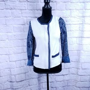 Dolan Jacket women's size small blue white Anthro